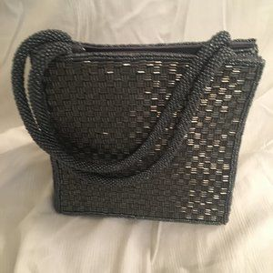 Retro Inge Christopher grey beaded evening bag
